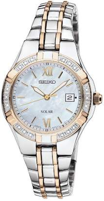 Seiko Women's Two-Tone Stainless Watch with Diamond Accents