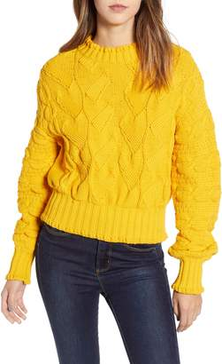 Billabong Love By Design Textured Cable Knit Sweater
