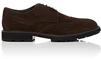Tod's Men's Suede Wingtip Bluchers - Dk. brown