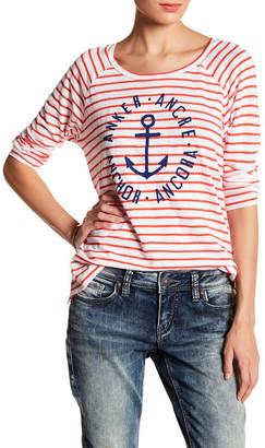 Sundry Raglan Sleeve Stripe Anchor Tee $86 thestylecure.com