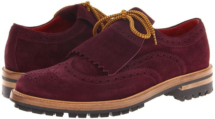 DSquared DSQUARED2 - Bowles Laced Up Oxford (Plum) - Footwear