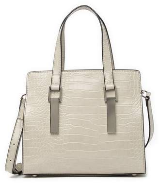 Christian Siriano New York Shannon Croc Embossed Small Top Handle Tote