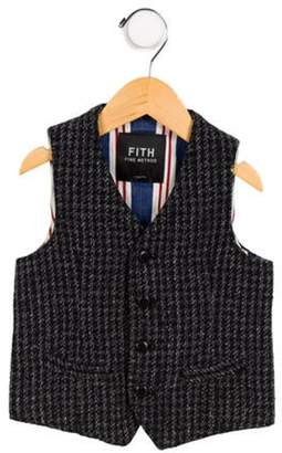 Fith Boys' Tweed Button-Up Vest black Fith Boys' Tweed Button-Up Vest