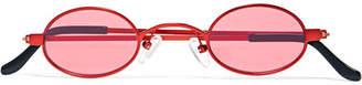 Roberi & Fraud - Doris Round-frame Metal Sunglasses - Red