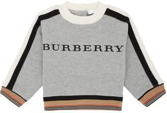 Burberry Check Trim Logo Sweater