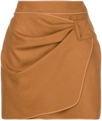 No.21 wrap front mini skirt