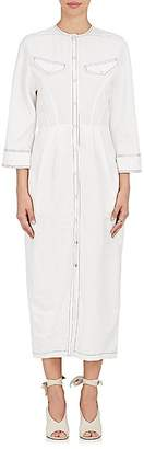 Derek Lam Women's Linen-Blend Snap-Front Shirtdress $1,595 thestylecure.com