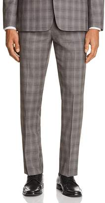 Theory Marlo Tonal Check Plaid Slim Fit Suit Pants