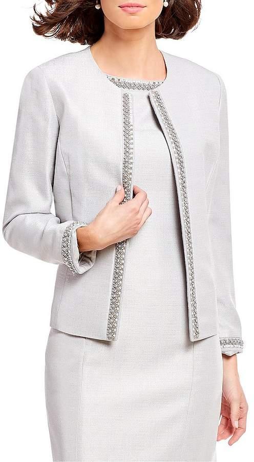 Preston & York Gwen Sparkle Beaded Trim Suiting Jacket