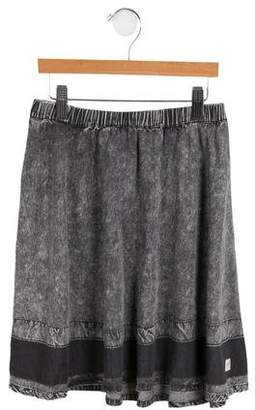 Molo Girls' Distressed A-Line Skirt