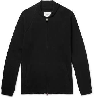 Folk Milano Shawl-Collar Cotton and Wool-Blend Zip-Up Cardigan