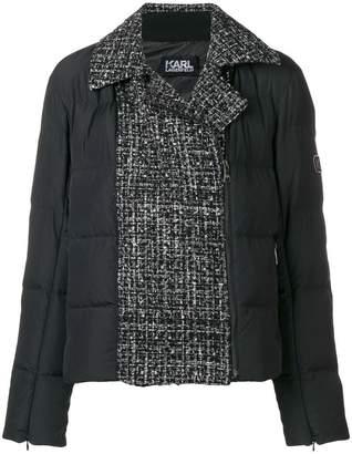 Karl Lagerfeld padded boucle jacket