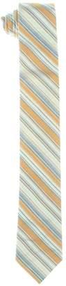 Calvin Klein Mens Crystal Stripe Stripes Classic Neck Tie Orange O/S