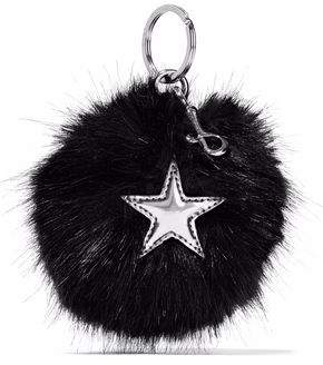 Stella McCartney Stella Mccartney Woman Embellished Faux Fur Keychain Red Size S1SSb