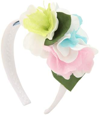 Silk Satin Blend Headband W/ Flowers