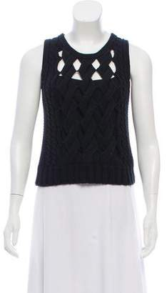 Timo Weiland Sleeveless Cable Knit Top