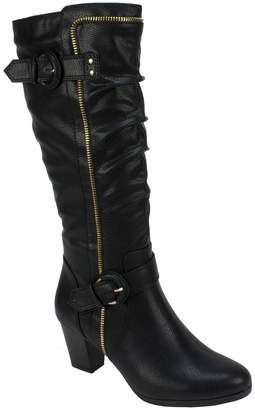 Rialto Slouch Style Tall Boots - Flame