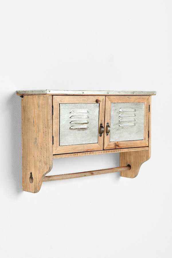 Urban Outfitters Reclaimed Wood Towel Shelf