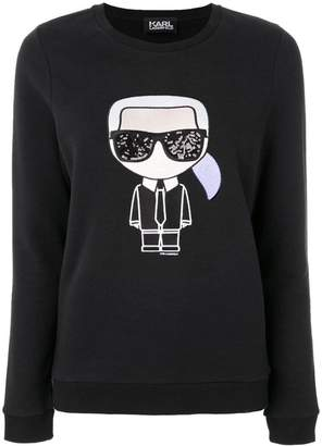 Karl Lagerfeld Paris iconic print sweatshirt