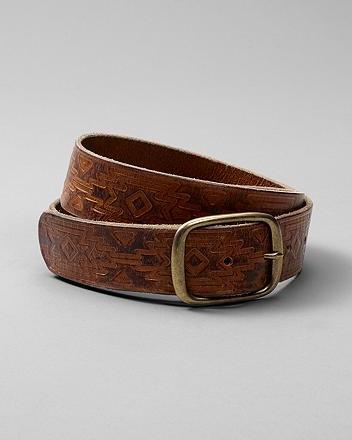 Tooled Jeans Belt