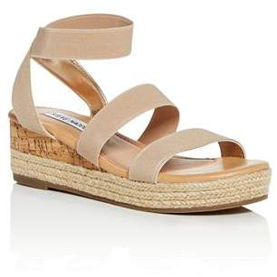 b51e2712f95 Steve Madden Girls  JBandi Strappy Platform Wedge Sandals - Little Kid