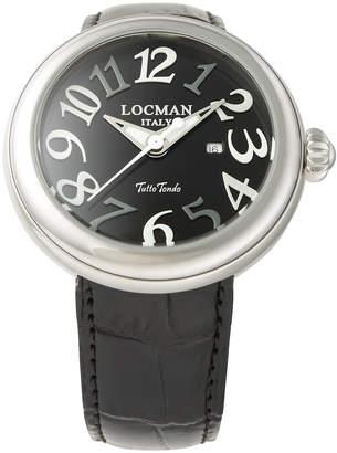 Locman (ロックマン) - LOCMAN ラウンドウォッチ デイト表示 ケース:ブラック ベルト:ブラック