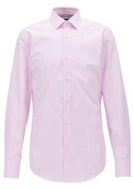 BOSS Hugo Check Cotton Dress Shirt, Slim Fit Jesse 15 pink