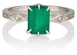 Cathy Waterman Women's Emerald Ring - White