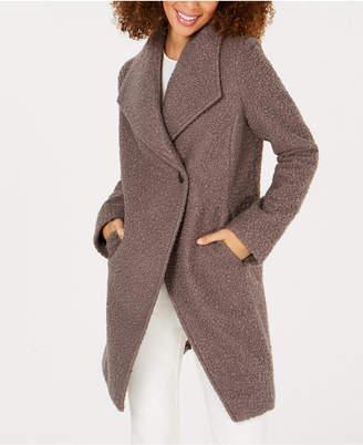 T Tahari Sheila Asymmetrical Textured Coat
