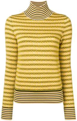 Carven striped roll neck sweater