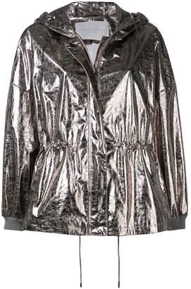 Fabiana Filippi hooded drawstring waist jacket