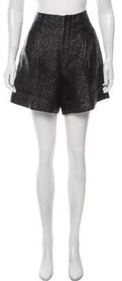 Lanvin Linen-Blend Brocade Shorts