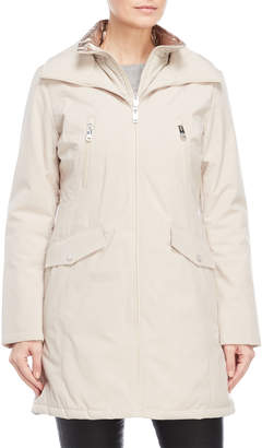 Kenneth Cole New York Vestie Metallic Lined Softshell Coat