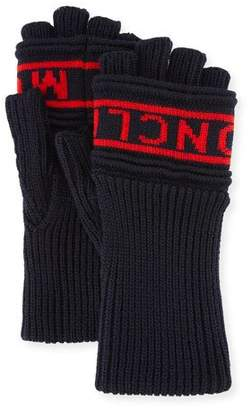Moncler Men's Logo Knit Fingerless Gloves