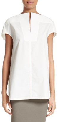 Women's Rick Owens Cotton Poplin Blouse $510 thestylecure.com