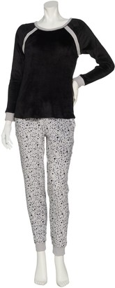 Cuddl Duds Petite Ultra Plush Velvet Fleece Pajama Set