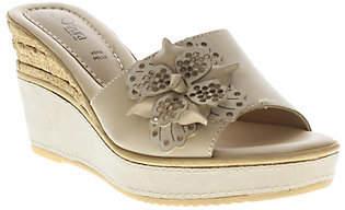 Spring Step Azura by Leather Slide Wedge Sandals - Montanara