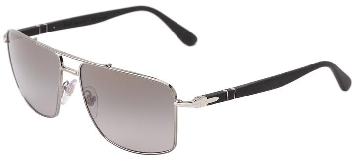 Persol PO2430S - Polarized (Black/Silver/Grey Lens) - Eyewear