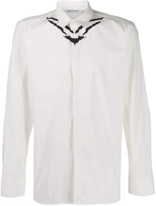 printed swallow shirt