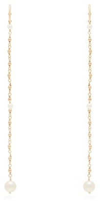 Mizuki Akoya Pearl & Chain Drop Earrings - Womens - Pearl