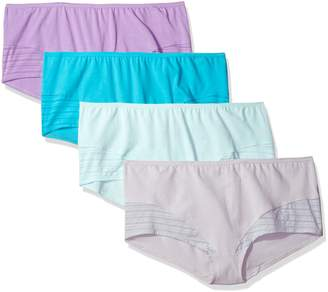 Fruit of the Loom Women's 4 Pack Coolblend Boyshort Panties