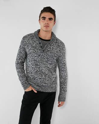 Express Shawl Neck Henley Sweater