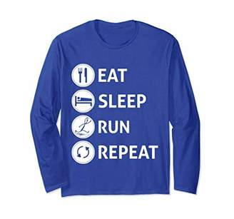 Eat Sleep Run Repeat Long Sleeve Shirt - Gift for Runners
