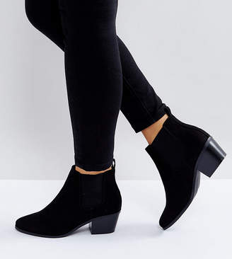 Asos DESIGN Wide Fit Revive chelsea ankle boots
