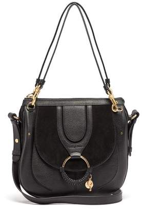 See by Chloe Hana Suede And Leather Satchel Cross Body Bag - Womens - Black