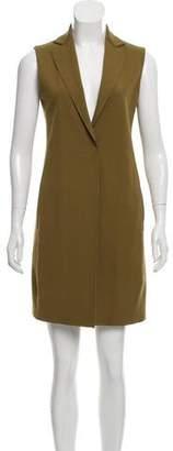 Harris Wharf London Sleeveless Mini Blazer Dress