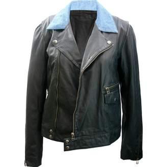 Whistles Black Leather Jacket for Women