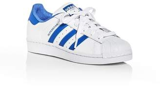 adidas Unisex Superstar Embossed Leather Lace Up Sneakers - Big Kid