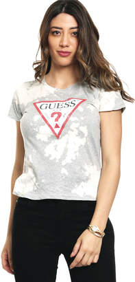 GUESS (ゲス) - ゲス GUESS BLEACH WASH TRIANGLE LOGO TEE
