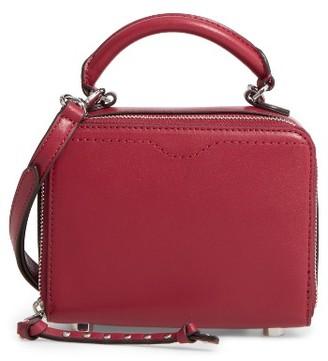 Rebecca Minkoff Box Leather Crossbody Bag - Red $175 thestylecure.com